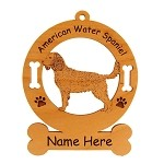 1269 American Water Spaniel Standing #2 Ornament Personalized with Your Dog's Name